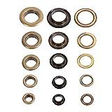 8/10/12/14 / 17mm Antique Brass Eyelet Grommets Kit Avec Rondelles Pour Cuir Toile Vêtements...