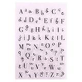 PHILSP Alfabeto Silicona Sello Claro Sello DIY Scrapbooking Relieve álbum de Fotos decoración