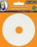 Cleopatre - SCRAP-RM2X5 - Cléofoam Tape 3D - Rollo de espuma adhesiva con doble cara, 2 x 10 mm,...