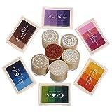 Rainbow Craft Dedo Almohadillas de tinta Sellos de flores 24 Colores de bricolaje para sello de goma...