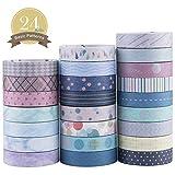 Yubbaex Washi Tape Set cinta adhesiva decorativa Washi Glitter Adhesivo de Cinta Decorativa para DIY...
