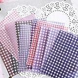12 piezas Vintage Color Grid Dot Basic Vellum Paper Pattern Pack para Scrapbooking Happy Planner...