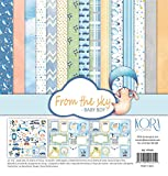 Pack (15) Papeles Scrapbooking (12'x12'/30,5 x 30,5 cm) - From the sky - Baby Boy