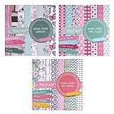 East-West Trading - 3blocs de papel de 20 hojas cada uno, impresas porambos lados, papel de...
