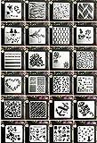 Juuly, plantilla de 24 estilos, plantillas para manualidades, plantillas para pintar, plantillas...