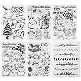 Kesote Navidad Transparente Sello de Silicona Sello de Goma en Forma de Santa Claus, Árbol de...