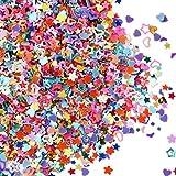 eBoot Confeti Brillante de Multi-Formas Lentejuelas Coloridas para Manualidades, Arte de Uñas y...