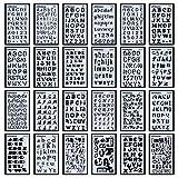 Juego de 24 plantillas de letras del alfabeto para diarios, suministros de papelería, álbumes de...